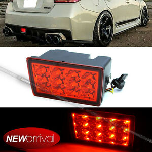 Details about For 11-16 WRX STI XV F1 Style Red Lens Red LED Flasher 3rd  Brake Light Lamp