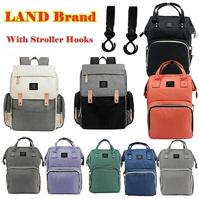 Authentic LAND Mommy Baby Diaper Bag Large Backpack Maternity Insulated pockets