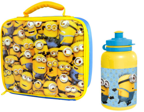 DESPICABLE ME MINIONS CHILDRENS SCHOOL BOYS GIRLS KIDS INSULATED LUNCH BOX BAG