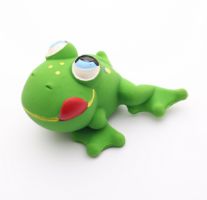 Natural rubber Bath Toy Flint the Frog by Lanco