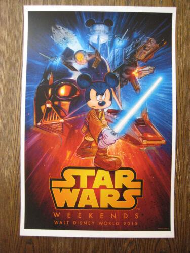 "11/"" X 16.5/"" Collector/'s Poster Print T2 StarWars Weekends - B2G1F DisneyWorld"