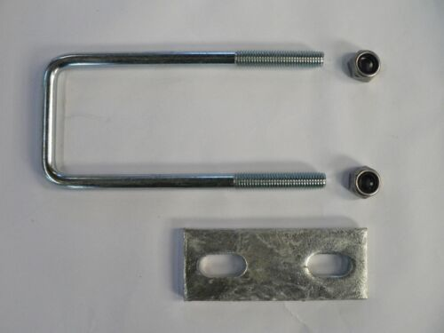 M10 Square U-bolt u bolt for Boat trailer 60 x 150 x 10mm with Nylocs and Plate
