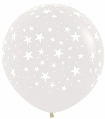 """NEW  Themed  Party Stars Clear 390 Latex Balloons 36/""""//91cm"""