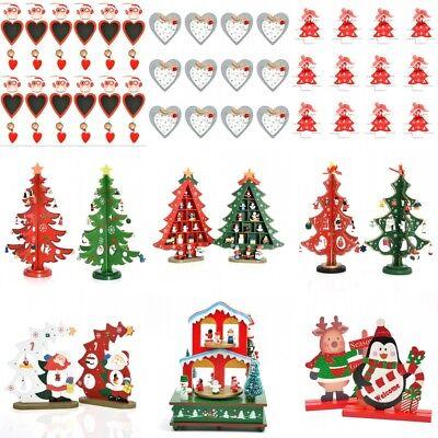 Christmas Tree Toys Handmade.Kids Toy Gift Wooden Handmade Christmas Tree Decoration