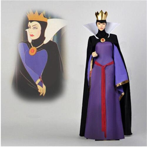 Snow White Evil Queen Stepmother Costume Dress Outfit Halloween Adult Cosplay