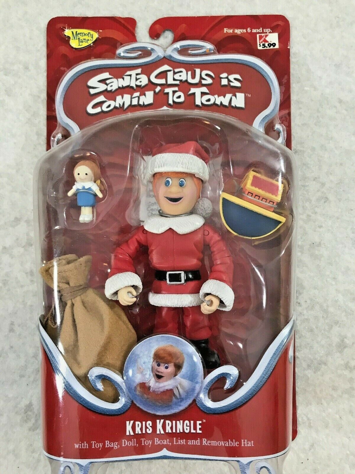 Kris Kringle Santa Claus is coming to Town Action Figure accesories NIP 2004