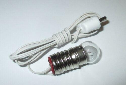 Kahlert Beleuchtung 3,5 Volt  Fassung E10 weiß  NEU//OVP