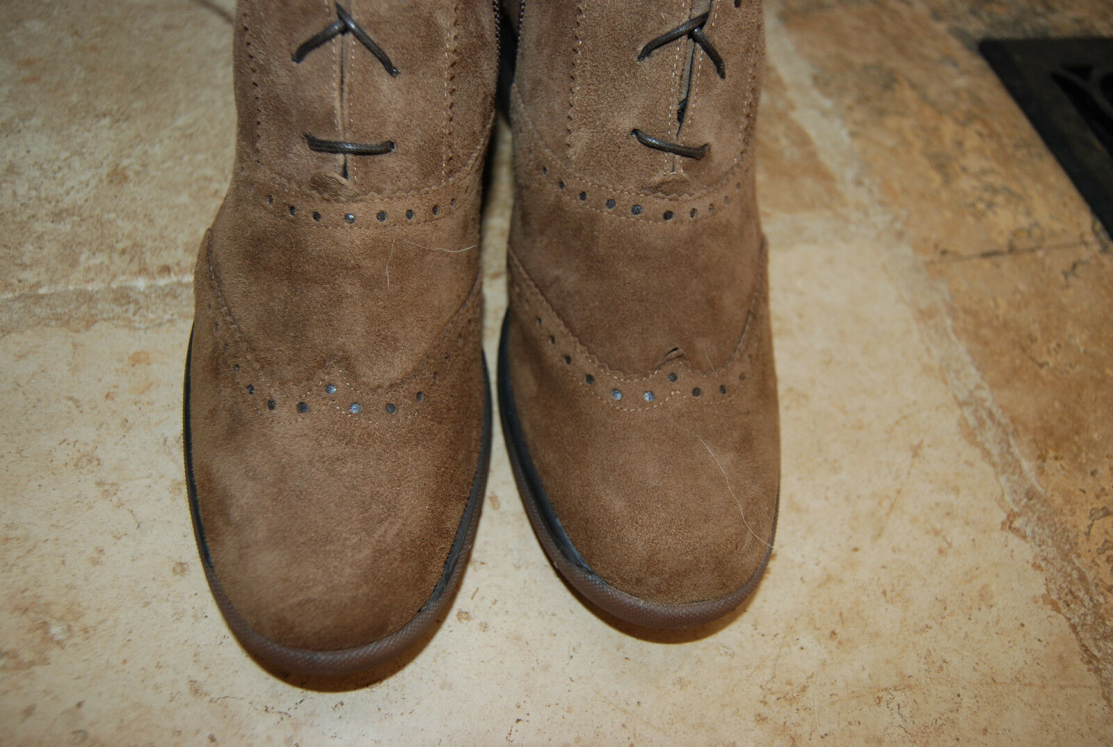 New Braun Suede ALBANO Front Laced Side Zip ALBANO Suede Knee High Stiefel EU 38 US 7 - 7.5 f5a7fd