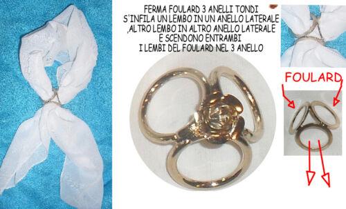 ferma foulard fibbia attacco foulard  artigianale made in italy foulard klips