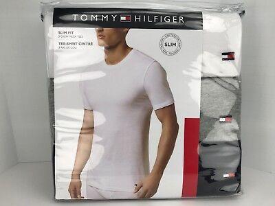 Men's TOMMY HILFIGER Crew Neck Tee Shirts. 3 Colors. Size L. 3 Pack.$39 MSRP | eBay