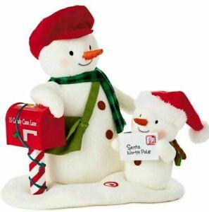 2018 Special Delivery Techno Plush Singing Snowmen Sound Jingle Pals HALLMARK