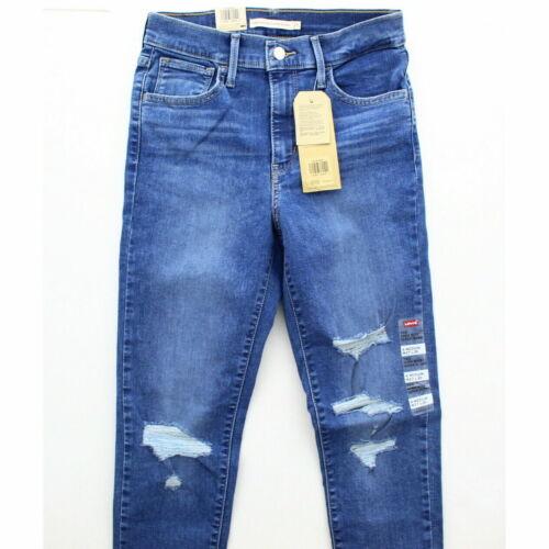NWT Levi/'s 720 Jeans Womens High Rise Super Skinny Denim Rip Distress 26x28