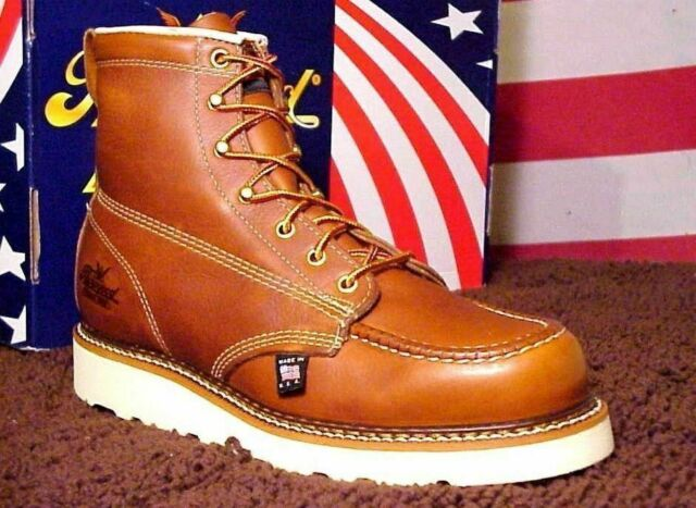 945f960599d Thorogood Men Size 9 1/2 D Work Boots 814-4200 Wedge Bottom Boots Union USA  Made