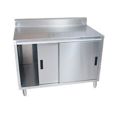 Bk Resources Cstr5 2460s 60w X 24d Stainless Steel Cabinet Base Work Table