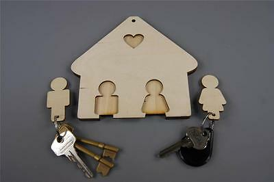 1x Wooden HOME HANGING KEY 2 Hangers Embellishment Room Decoration Tag (Y3)