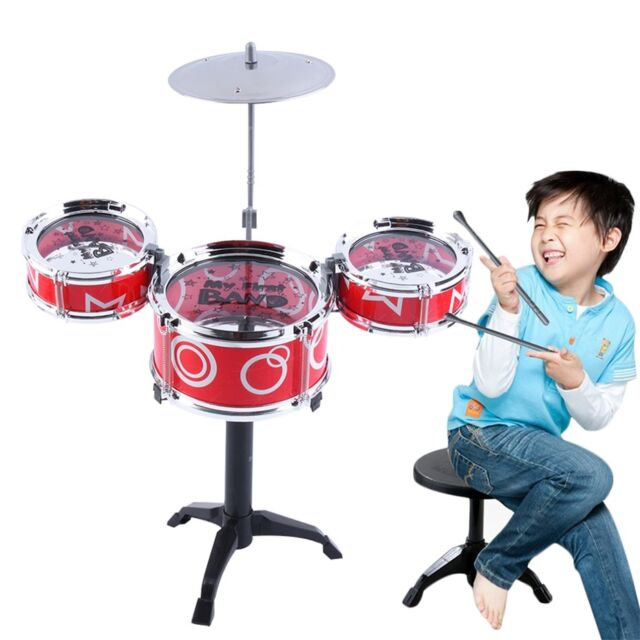 Children Kids Educational Toy Rock Drums Simulation Musical Instruments EC
