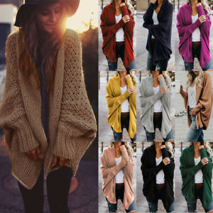 Lady-Women-Winter-Baggy-Cardigan-Coat-Jacket-Tops-Knitted-Loose-Sweater-Jumper