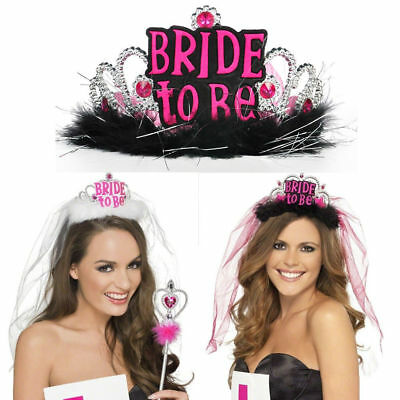 Hen night accessories veils tiaras bride to be party