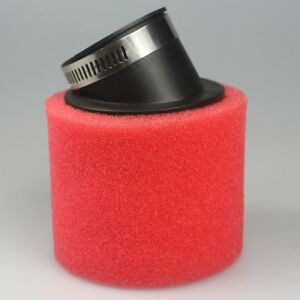 RED-Bent-48mm-Angled-Foam-Air-Filter-Pod-PIT-PRO-Trai-Quad-Dirt-Bike-ATV-Buggy