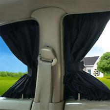 Set of 2 Car Window Mesh Interlock Curtain Adjustable Yes Folding Universal Y2R3