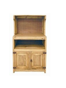 Image Is Loading Rustic Honey Microwave Stand Western Real Solid Wood