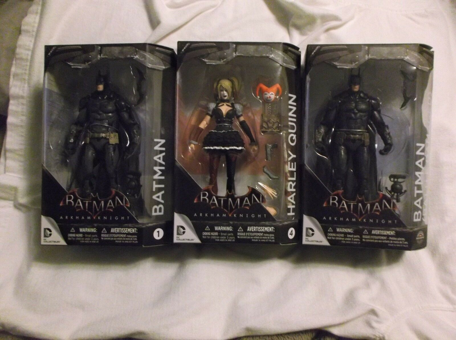 BATMAN ARKHAM KNIGHT SERIES ONE. YOU CHOOSE. BATMAN, QUINN,BATTLE DAMAGE BATMAN