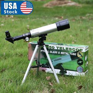 360-50mm-Refractive-Astronomical-Telescope-Tripod-Monocula-Space-Scope-Refractor