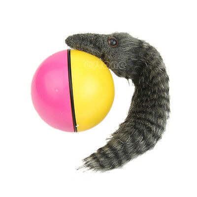 Fun Beaver Weasel Rolling Motor Ball Pet Cat Dog Kids Chaser Jumping Moving Toy
