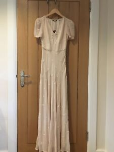 BNWT-Gorgeous-Jack-Wills-Ladies-Pastel-Pink-Maxi-evening-Dress-Sz-8