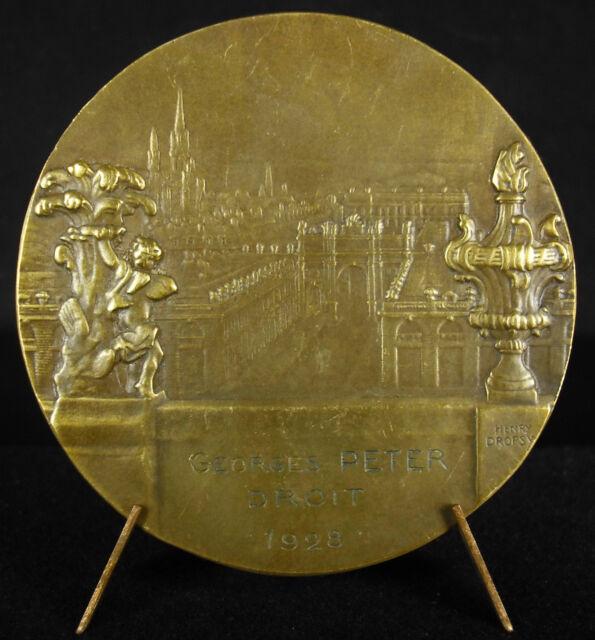 Medalla Vista de Nancy Université de la ley Georges Peter 1928 Nanceiana medal