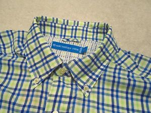 Southern-Tide-Tide-to-Trail-Green-Plaid-Fishing-Sport-Shirt-NWT-M-110