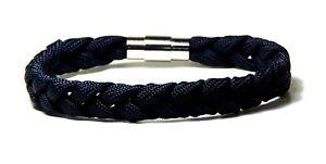 Three Strand Bracelet Nautical Locking Stainless Magnetic Clasp Hand Made USA 7
