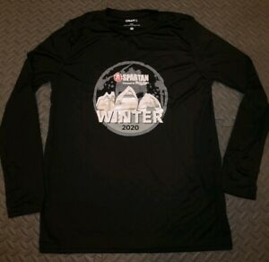 NEW 2020 Spartan Winter Race Greek Peak Finisher's Shirt Unisex size Med or XS