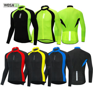 Mens-Cycling-Jersey-Long-Sleeve-Breathable-Quick-Dry-MTB-Team-Bike-Riding-Tops