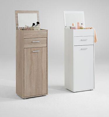Make-Up Dressing Table Cabinet w/ Foldaway Mirror. Tallboy Vanity Dresser 'Face'