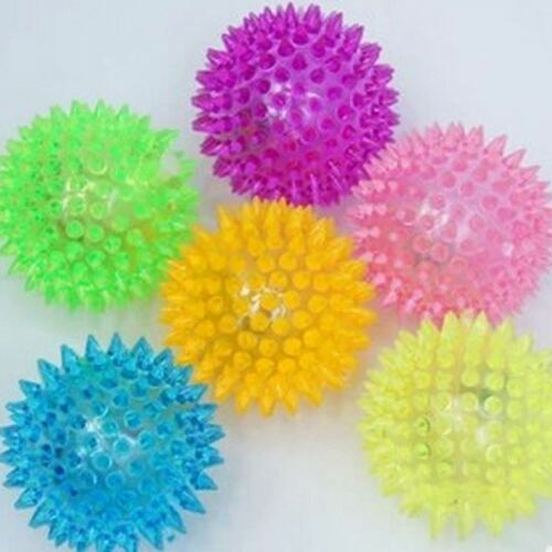 LED Flashing Bouncing Spiky Balls Party Loot Bag Filler Toys Games Gifts