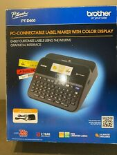 Brother P Touch Pt D600 Pc Connectable Label Maker Withmanuals Cords Amp Box