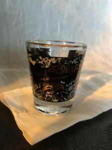 Shot-Glass-2-5-San-Diego-California-Dolphin-Black-Gold-Water-Ocean