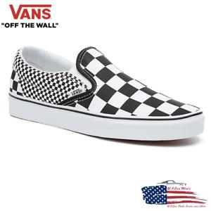 Details zu VANS Slip On Sneaker Skate Schuhe Mix Checkerboard - Schwarz/Weiß - VA38F7Q9B
