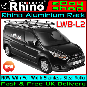hot sales online for sale good selling Details about LWB Ford Transit Connect Roof Rack Aluminium Rhino Bars and  Roller 2014-2019 Van