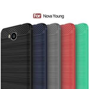 the best attitude 74878 3b76f Details about Carbon Fiber Case Cover For Huawei Nova Young/Mya-L41 Mya-L11  Mya L41 Mya L11