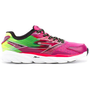 Details about NEW WOMENS SKECHERS GORUN RIDE 4 PERFORMANCE LACE UP FUCHSIA GREEN SNEAKER 13998