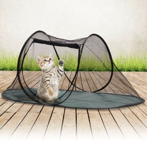 Large Pet Cat Dog Playpen Outdoor Enclosure Portable Exercise Cage Play Tent Fun