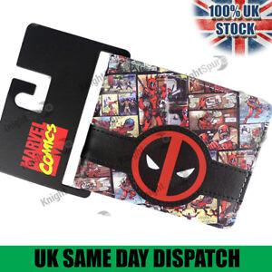 Marvel-Deadpool-Wallet-Full-Imprime-Avec-Raised-Logo-Devant-amp-interne-Logo