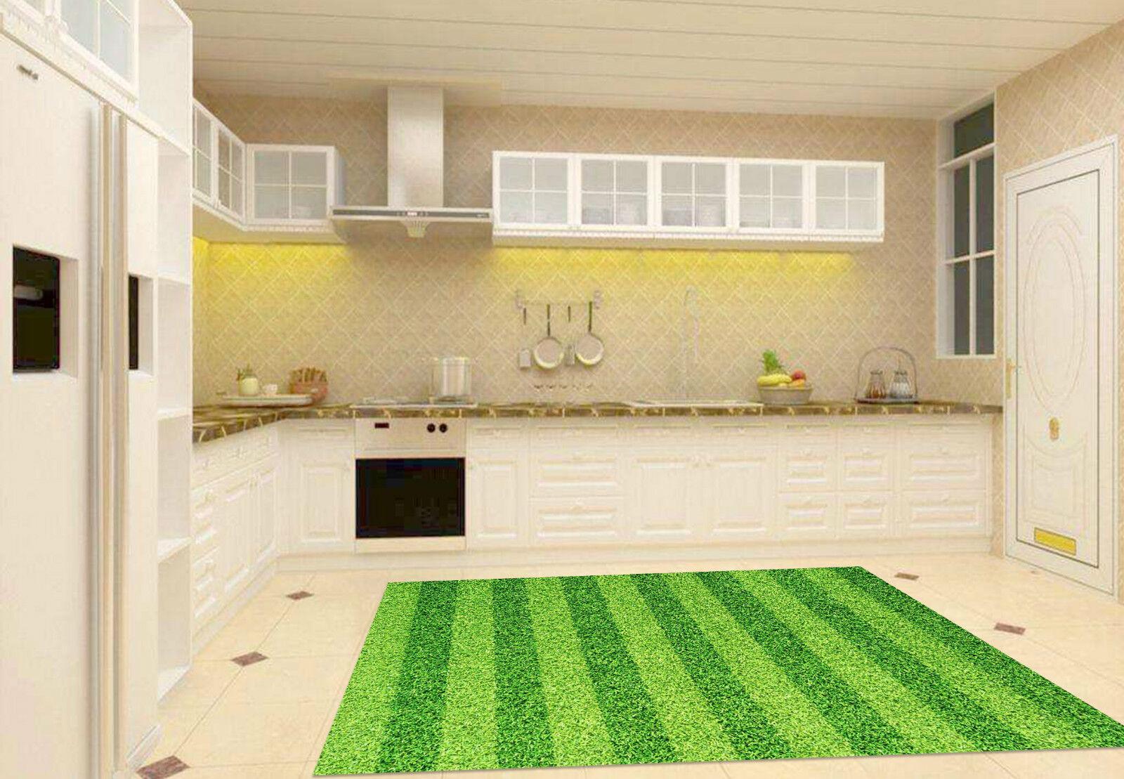 3D Grass Stripes Kitchen Mat Floor Murals Wall Print Wall Deco AJ WALLPAPER CA