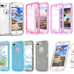 the best attitude c28d9 6af7b For Apple iPhone XR/XS/MAX/8/7/6 Shockproof Defender Clear Case With ...