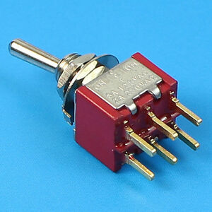 1 Pc Dpdt Mini Toggle Switch On Off On Pcb Mount High