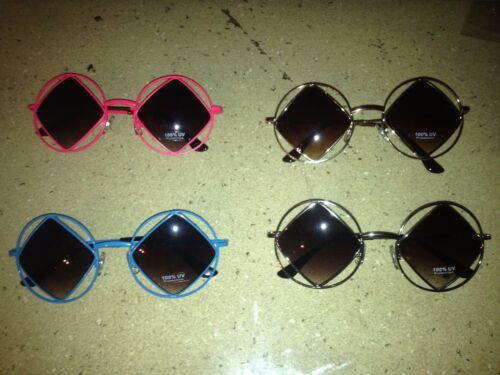 Diamond Shaped sunglasses Silver frames//smoke lens 100/% UV
