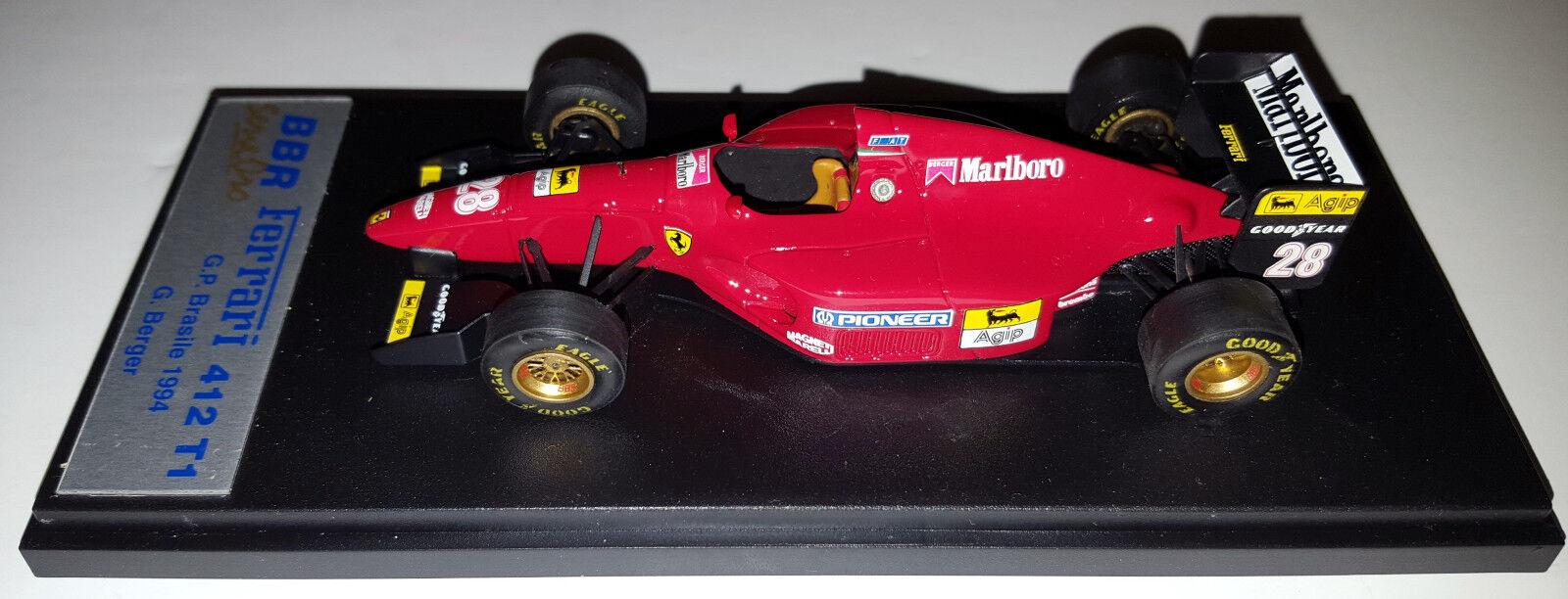 BBR SERIE or BG26 1 43 Ferrari 412 T1  28 1994 Brésil grand prix de Gerhard Berger