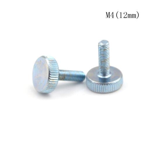 10Pcs M3 M4 M5 Knurling Flat Head Knurled Thumb Screw Hand Tighten Screws  OI
